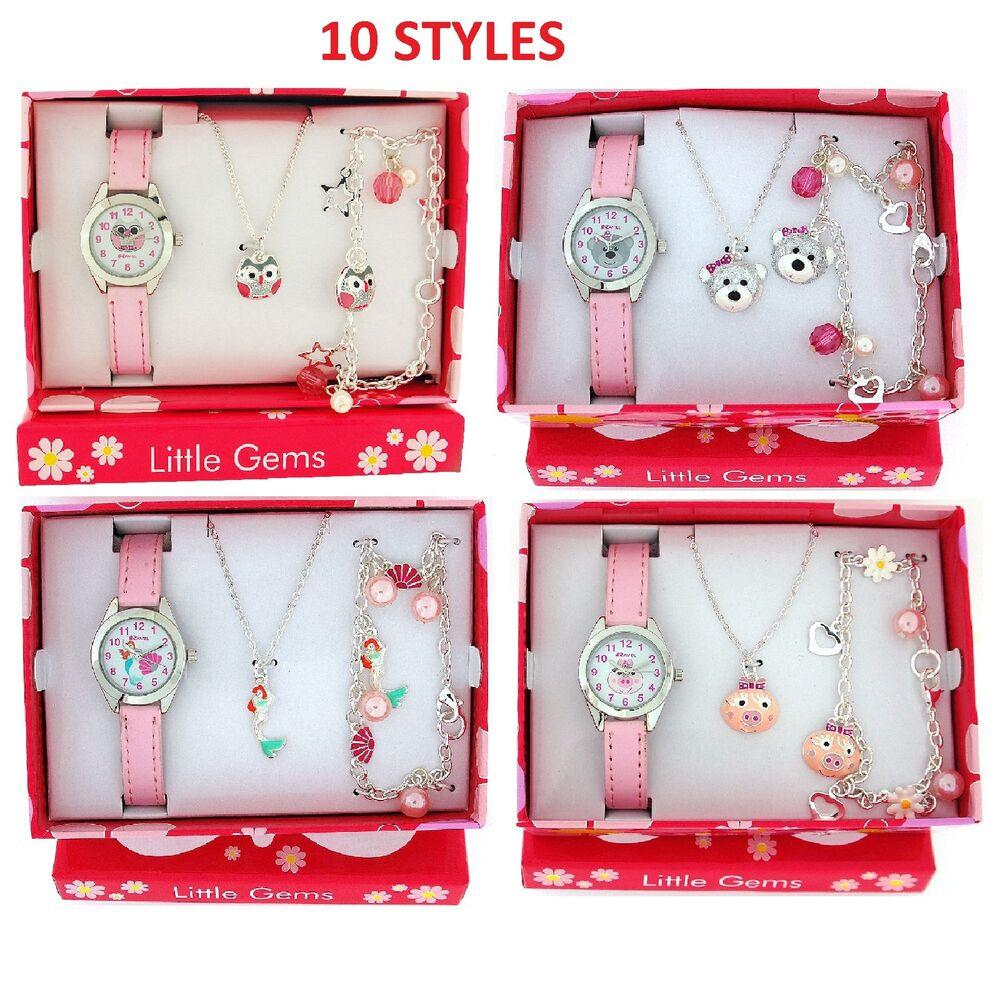 Kids Gift Sets  Ravel Girls Watch & Jewellery Cute Little Gems Children s