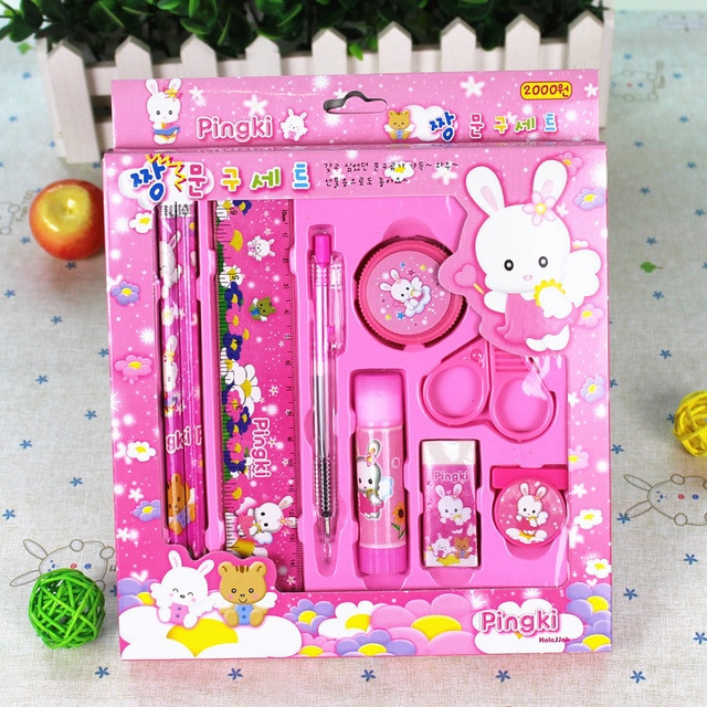 Kids Gift Sets  free shipping 10PCS Korea cute Stationery kids t set