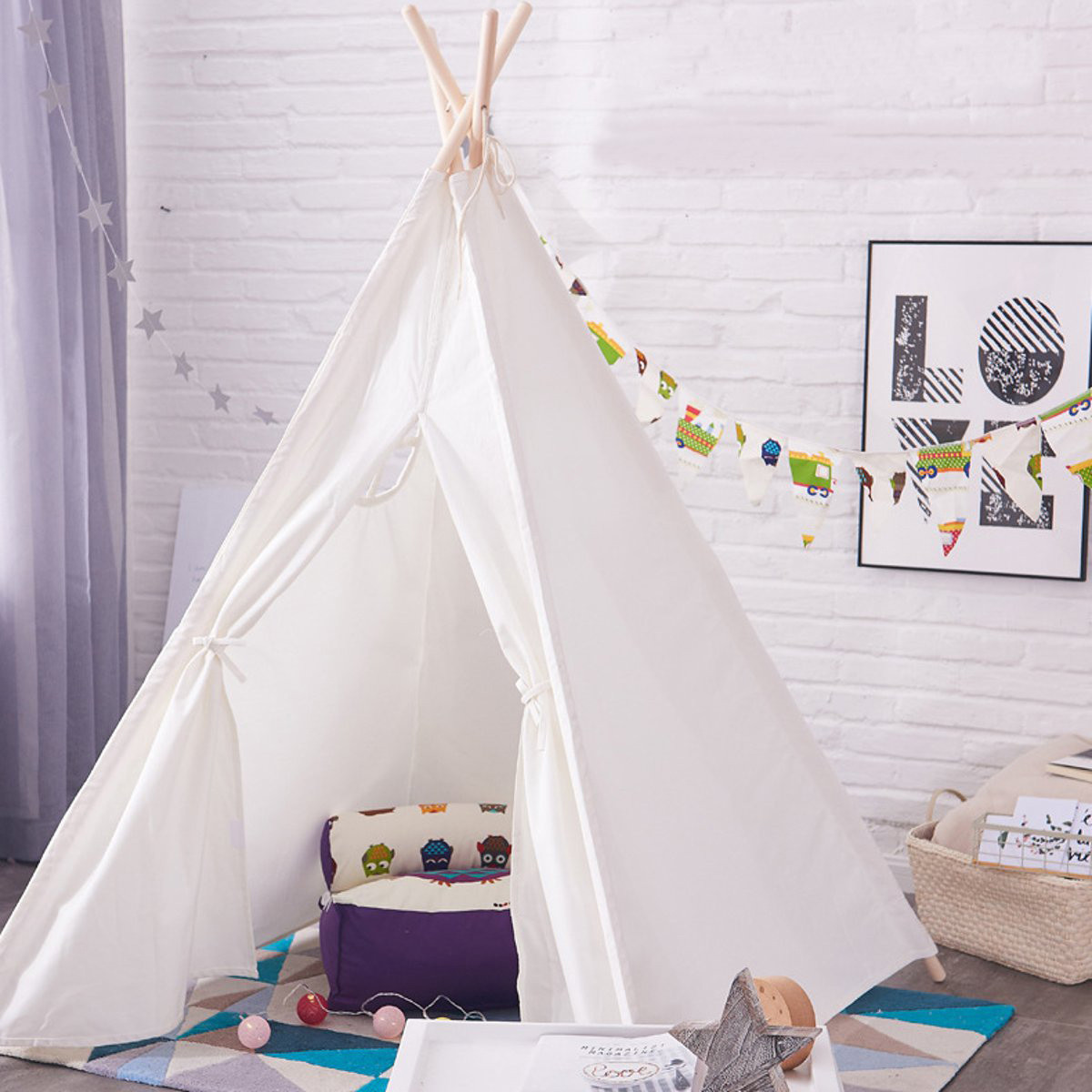 Kids Indoor Teepee  Tents for Kids Outdoor Indoor Strip Teepee Tent for Girls