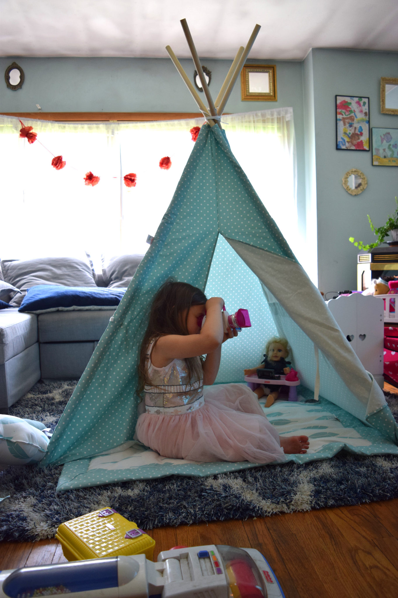 Kids Indoor Teepee  The Easiest Kids Play Tent Ever