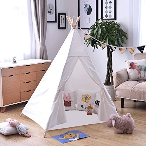 Kids Indoor Teepee  Dalosdream Kids Tent Indoor Teepee Tent for Kids with 5