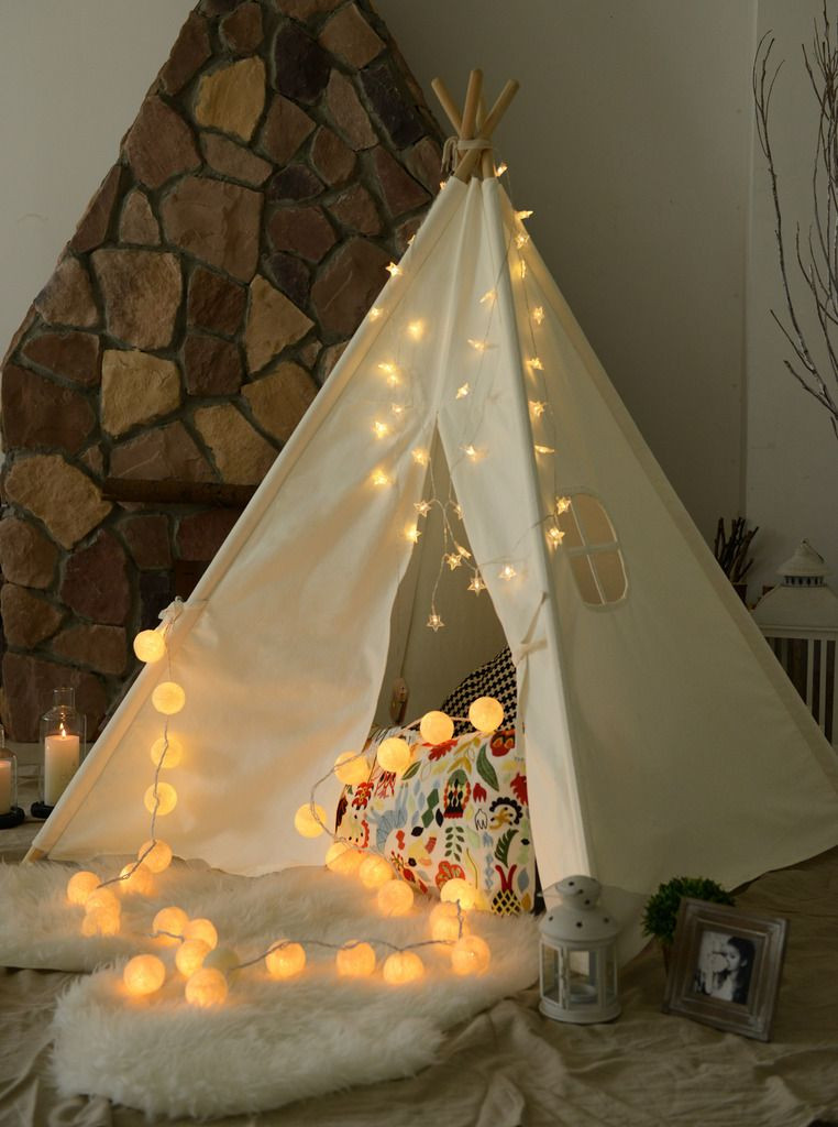 Kids Indoor Teepee  Kids Giant Cotton Canvas TEEPEE WIGWAM Childrens
