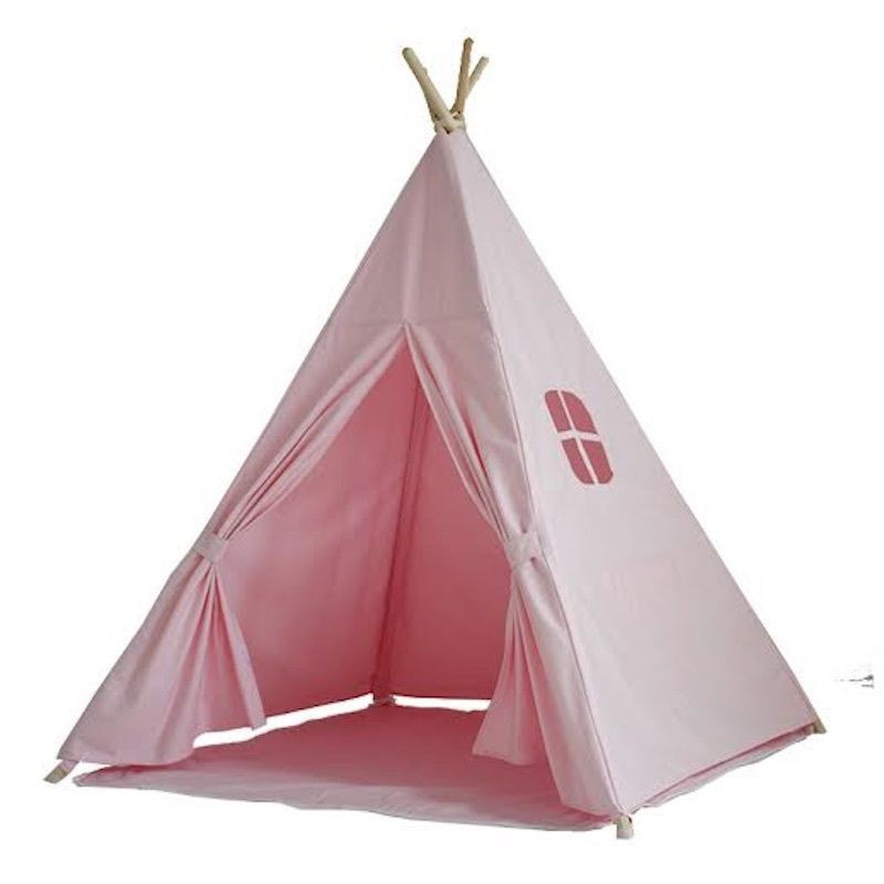 Kids Indoor Teepee  Kids Canvas Cotton Pink Teepee Indoor Outdoor Tipi