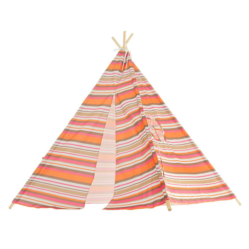 Kids Indoor Teepee  Hey Play Indoor Outdoor Kids Teepee W The Home Depot