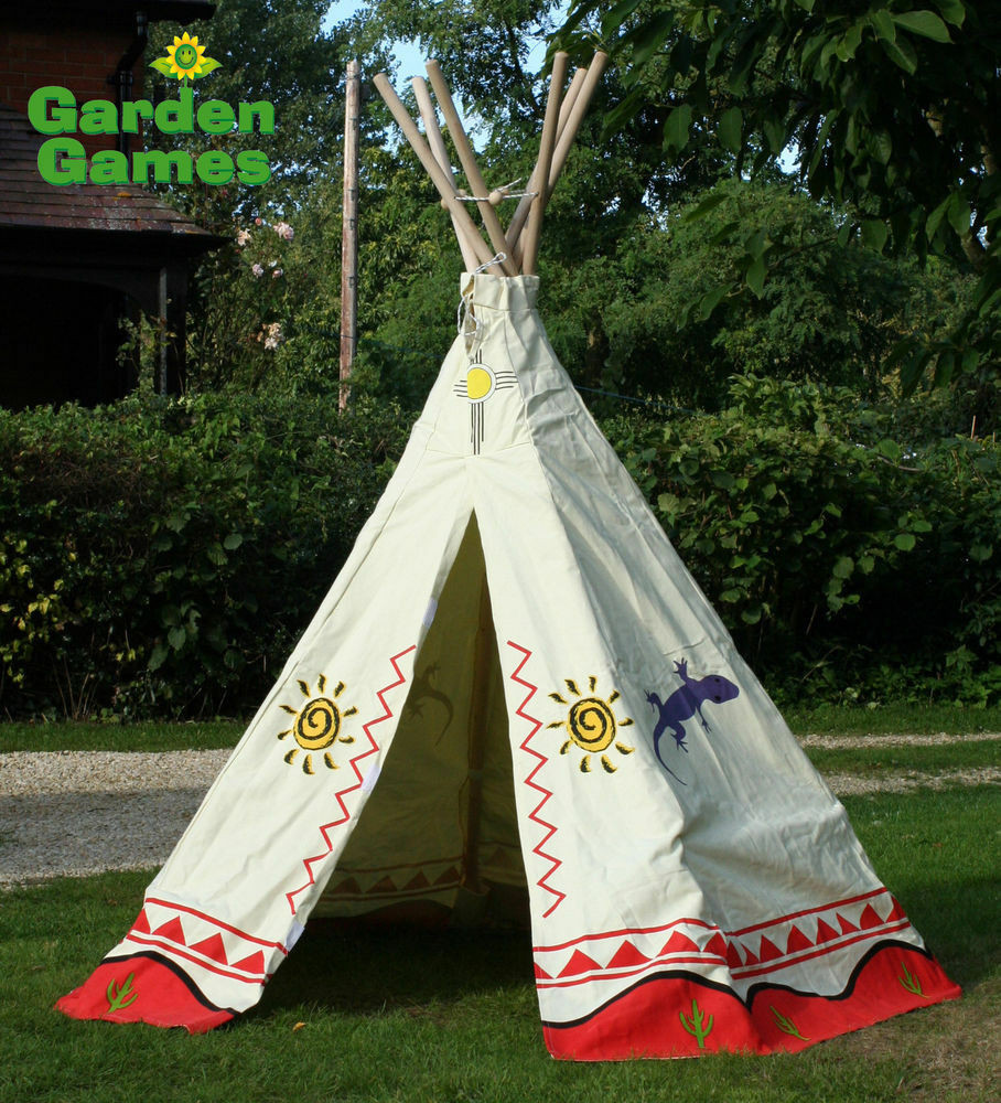 Kids Indoor Teepee  NEW KIDS TEEPEE WIGWAM TENT CHILDRENS PLAY TENT CHILDS