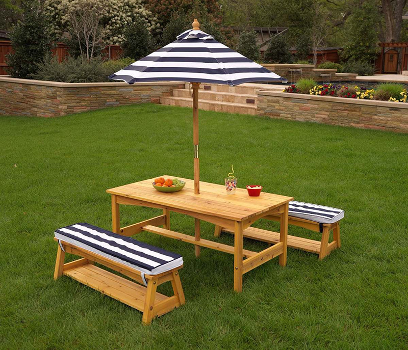 Kids Outdoor Table And Bench  20 Picnic Table Set for Kids for Endless Outdoor Fun