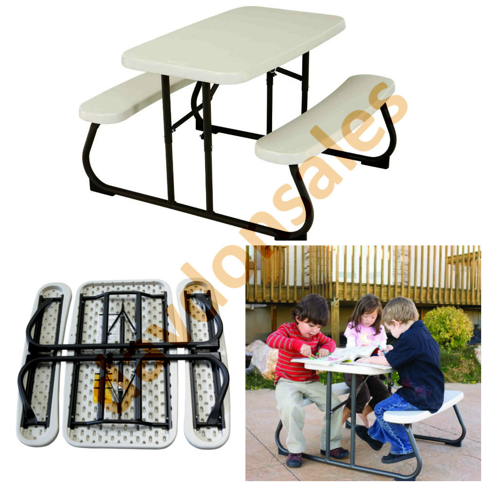 Kids Outdoor Table And Bench  Folding Picnic Table Kids Outdoor Bench Indoor Toddler