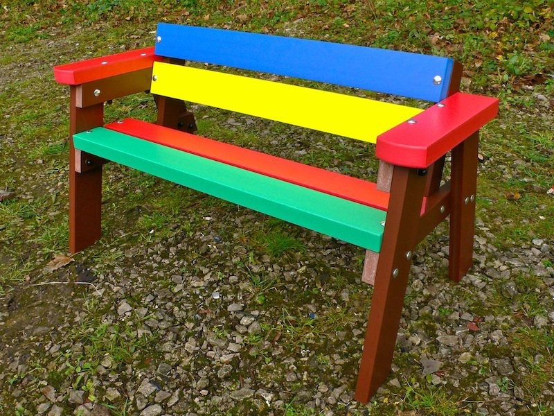 Kids Outdoor Table And Bench  Thames Child s Multicoloured Outdoor Garden Table