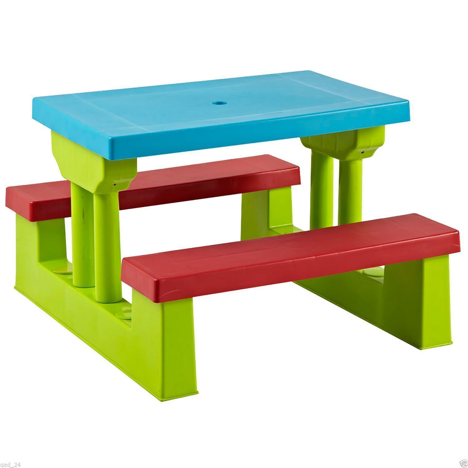 Kids Outdoor Table And Bench  Kids Childrens Picnic Bench Table Set Outdoor Furniture