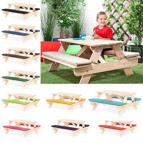Kids Outdoor Table And Bench  Children s Kids Outdoor Furniture Wood Play Picnic Table