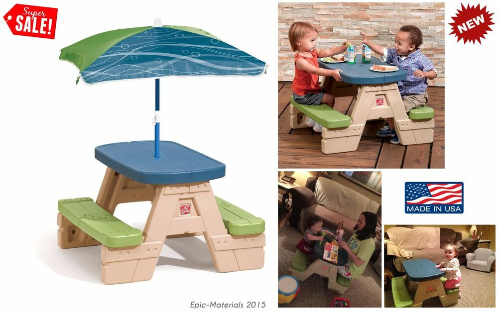 Kids Outdoor Table And Bench  Picnic Table Kids Seat Bench Chair Dining Play Patio
