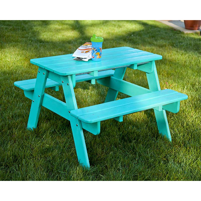 Kids Outdoor Table And Bench  Polywood Childrens Kids Picnic Table
