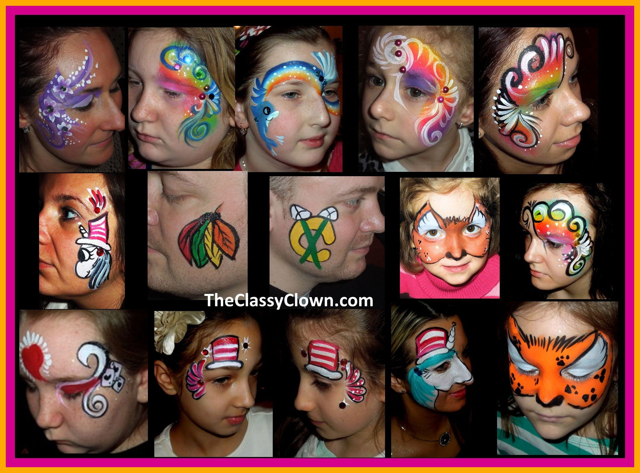Kids Party Face Painting  Great face painting ideas for kids parties Chicago Face