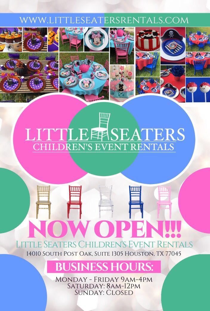 Kids Party Rental Houston  childreneventrentals kidschiavarichairs houston rentals