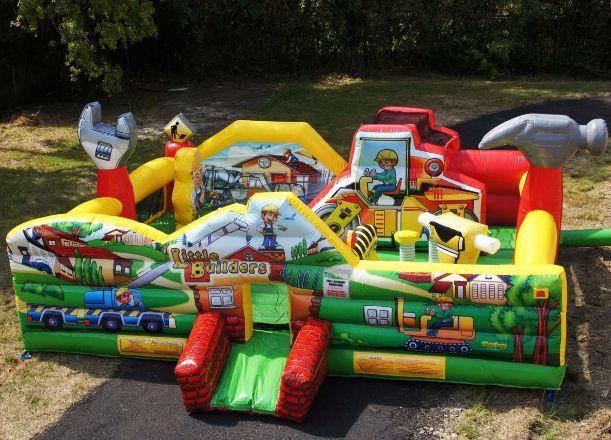 Kids Party Rental Houston  Houston Little Builders Construction Toddler Bouncer