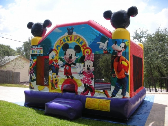 Kids Party Rental Houston  MICKEY MOUSE MOONWALKS RENTALS BOUNCE HOUSE