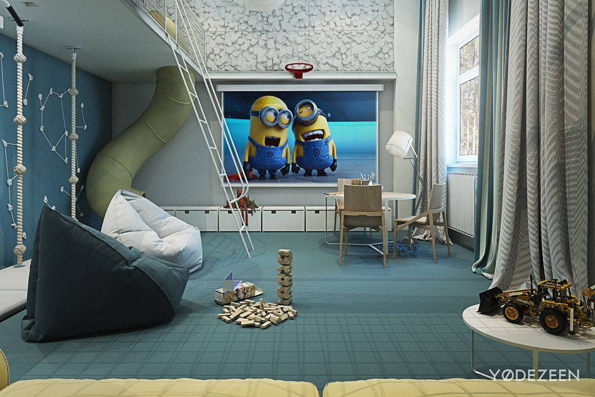 Kids Room Interior  Adorable Apartment Design For Kids With Lots Funny