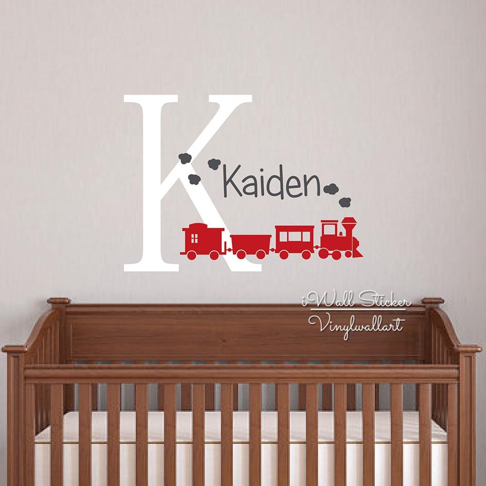 Kids Train Decor  Aliexpress Buy Baby Nursery Name Wall Sticker