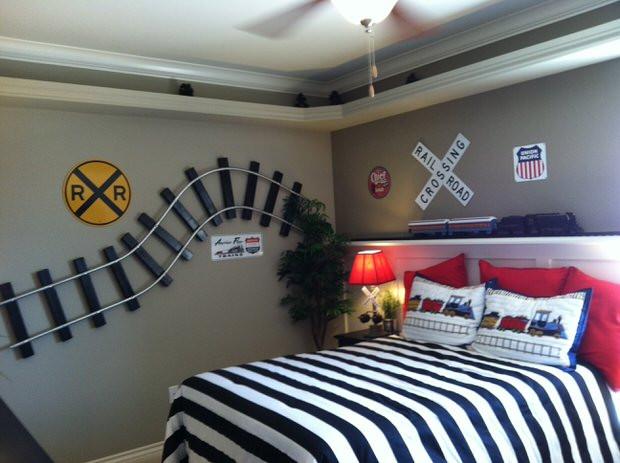 Kids Train Decor  DIY Train Bedroom for Kids • The Bud Decorator