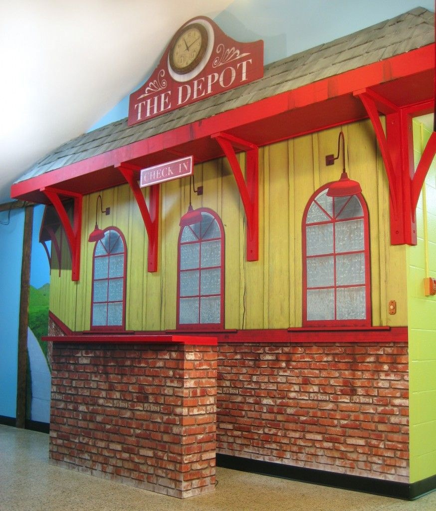 Kids Train Decor  train station designs for kids