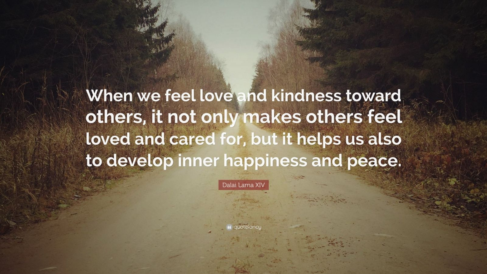 "Kindness Quotes Dalai Lama  Dalai Lama XIV Quote ""When we feel love and kindness"