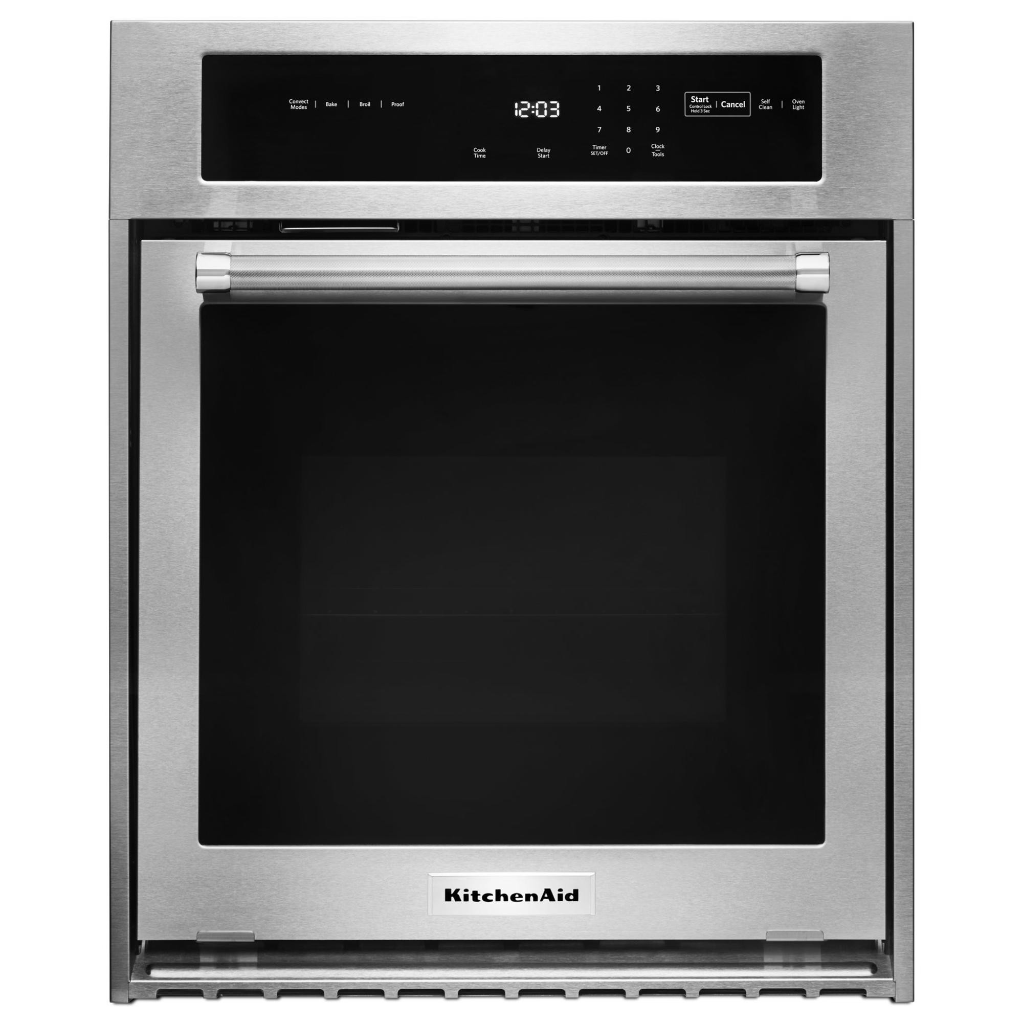 """Kitchen Aid Wall Oven  KitchenAid KOSC504ESS 24"""" Single Wall Oven w True"""
