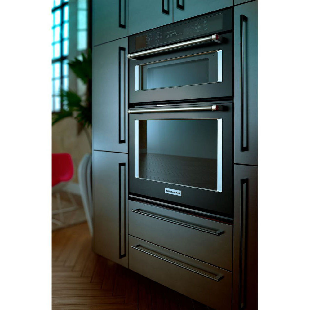 "Kitchen Aid Wall Oven  KOCE500ESS KitchenAid 30"" 6 4 Total Cu Ft Microwave"