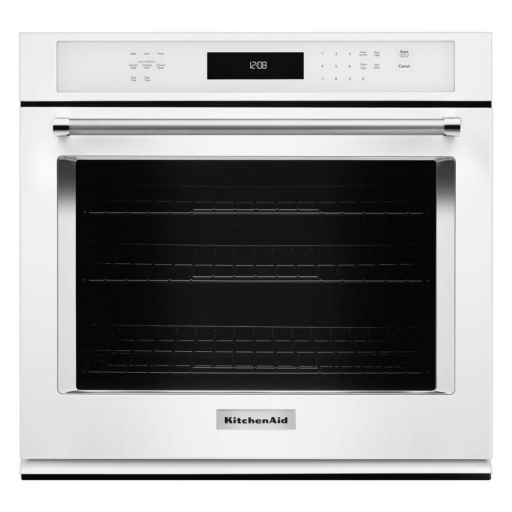 Kitchen Aid Wall Oven  KitchenAid 27 in Single Electric Wall Oven Self Cleaning