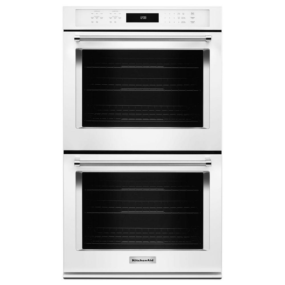 Kitchen Aid Wall Oven  KitchenAid 30 in Double Electric Wall Oven Self Cleaning