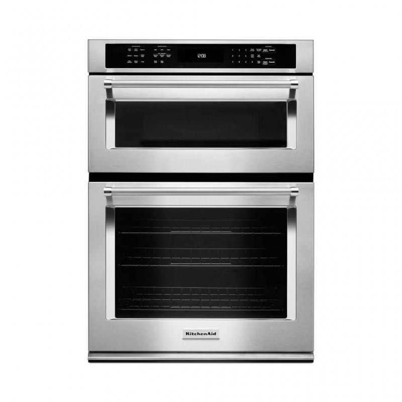 Kitchen Aid Wall Oven  KitchenAid KOCE500ESS 30 in Electric Even Heat True