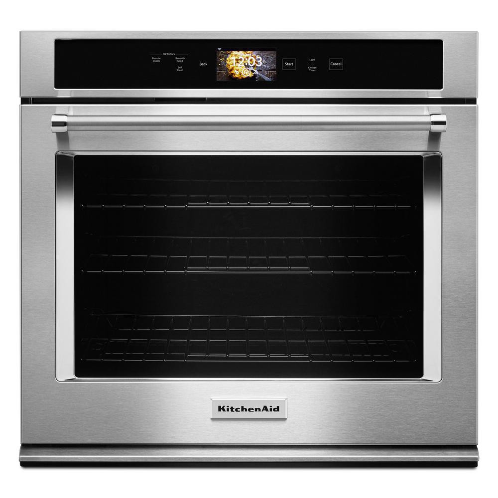 Kitchen Aid Wall Oven  KitchenAid 30 in Single Electric Smart Wall Oven with