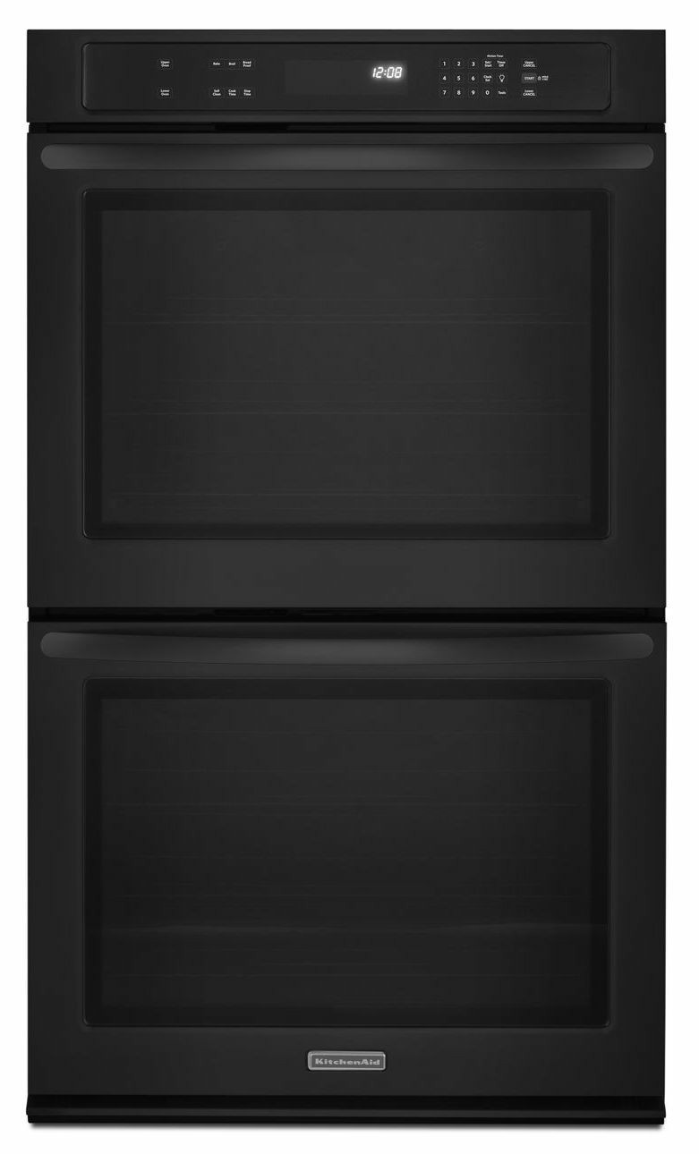 """Kitchen Aid Wall Oven  NEW KitchenAid 27"""" 27Inch Black Double Wall Oven"""