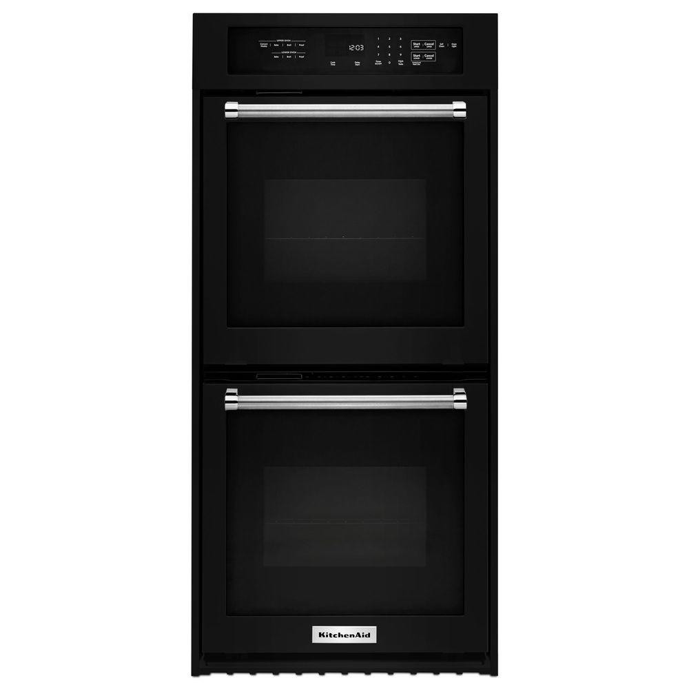 Kitchen Aid Wall Oven  KitchenAid 24 in Double Electric Wall Oven Self Cleaning