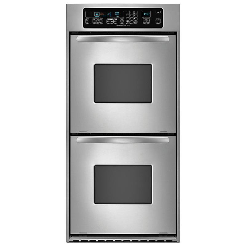 "Kitchen Aid Wall Oven  KitchenAid KEBC247VSS Architect 24"" Double Wall Oven"