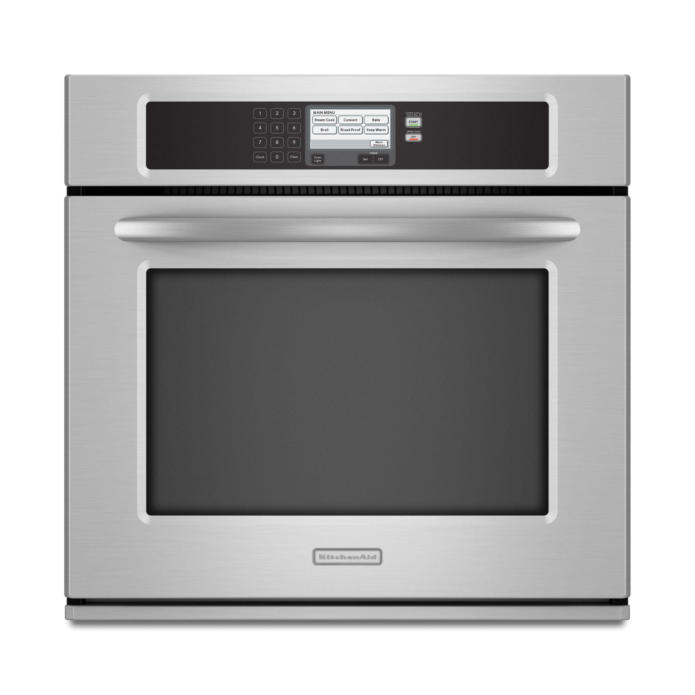 "Kitchen Aid Wall Oven  KitchenAid KEBU107SS Architect Series II 30"" Single Wall"