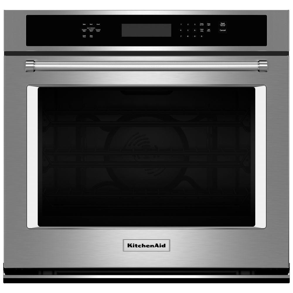 Kitchen Aid Wall Oven  KitchenAid 30 in Single Electric Wall Oven Self Cleaning