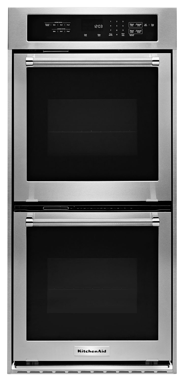 Kitchen Aid Wall Oven  KitchenAid Stainless Steel Electric True Convection Double