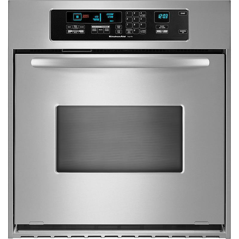 "Kitchen Aid Wall Oven  KitchenAid KEBC147VSS Architect 24"" Single Wall Oven"