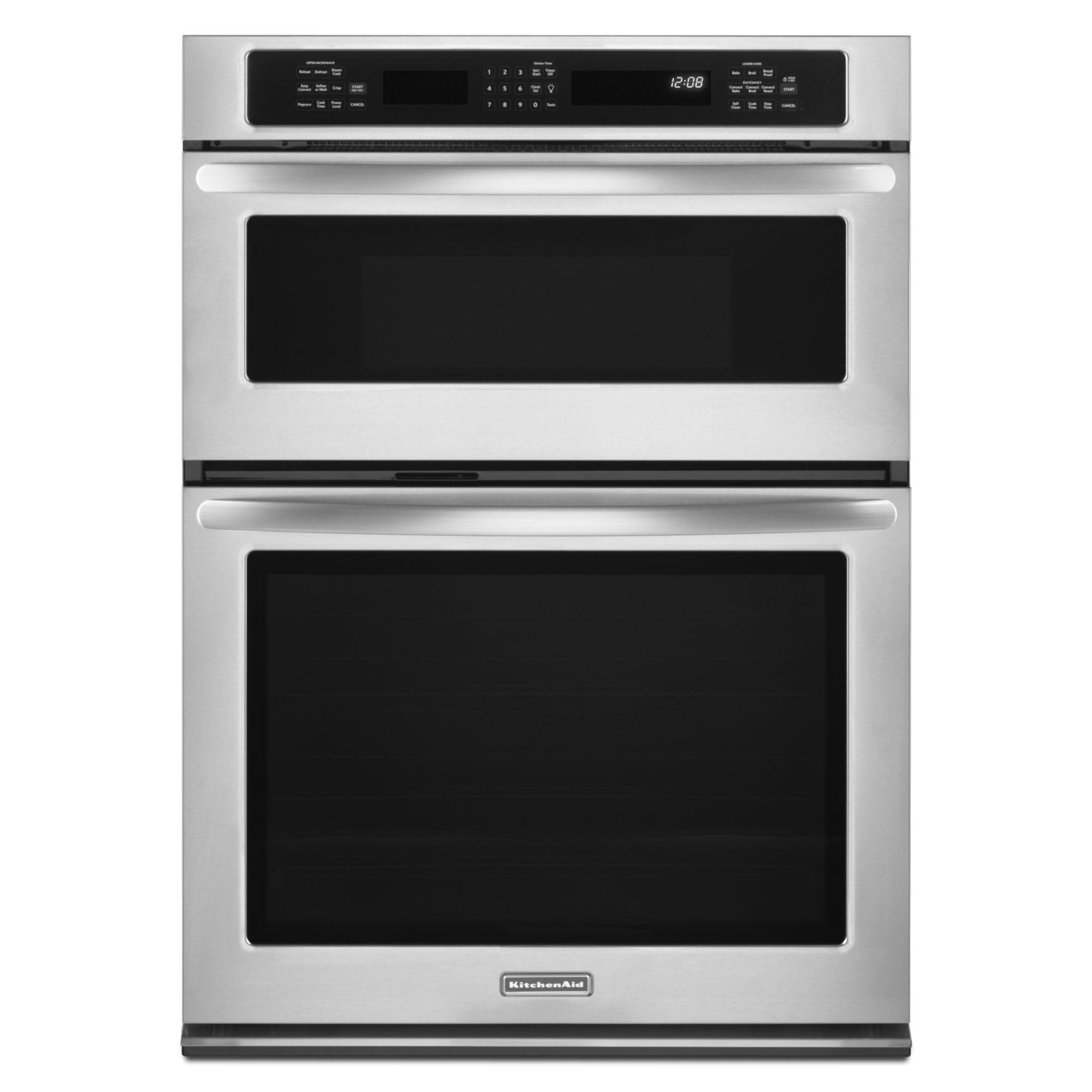 "Kitchen Aid Wall Oven  KitchenAid KEMS309BSS 30"" Built In bination Wall"