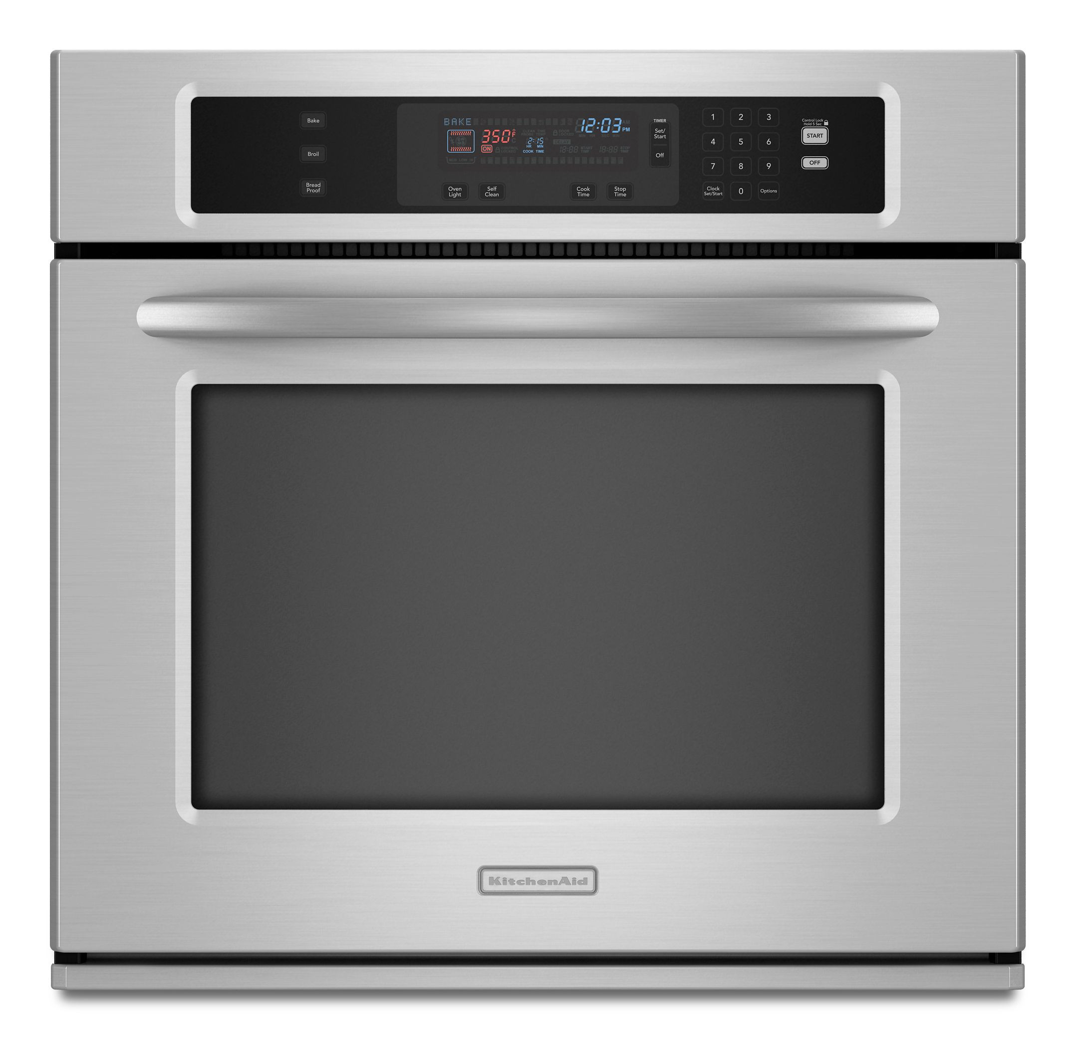 Kitchen Aid Wall Oven  KitchenAid Electric Single Wall Oven 27 in KEBK171SSS Sears