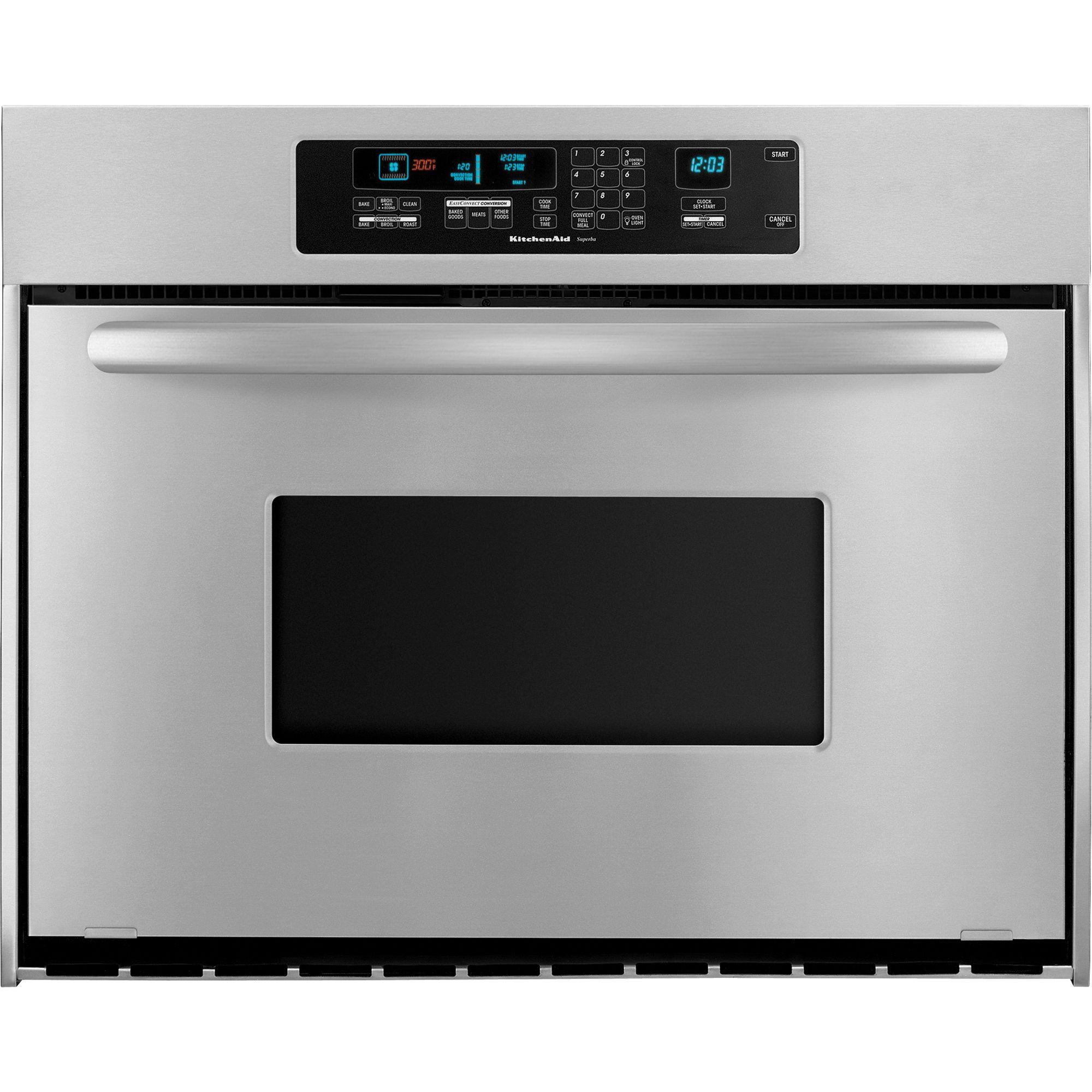 "Kitchen Aid Wall Oven  KitchenAid KEBC167VSS Architect 36"" Single Wall Oven w"