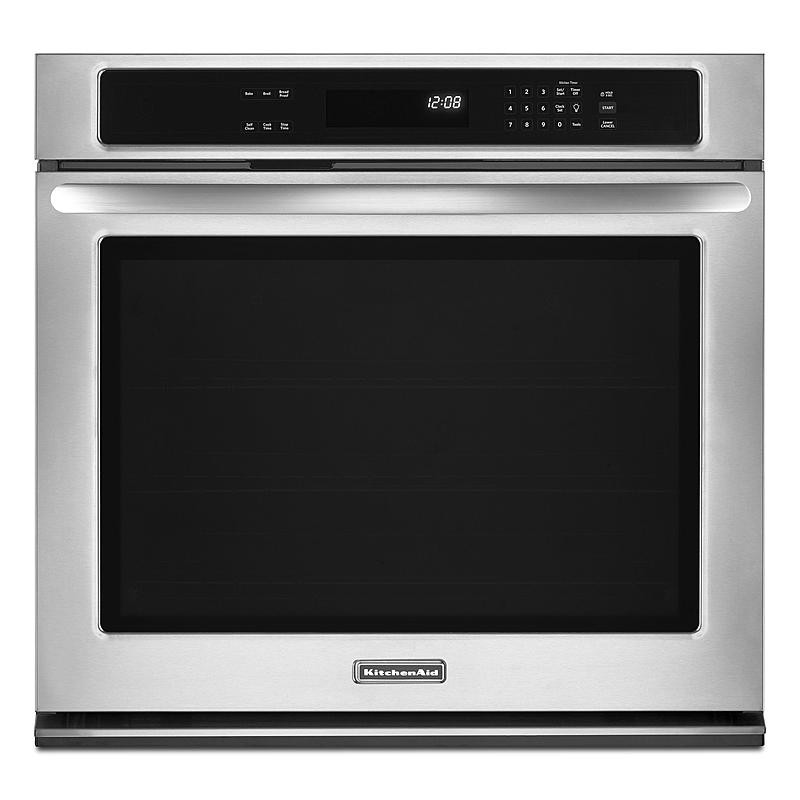 Kitchen Aid Wall Oven  KitchenAid KEBK171BSS 27 inch Built in Single Wall