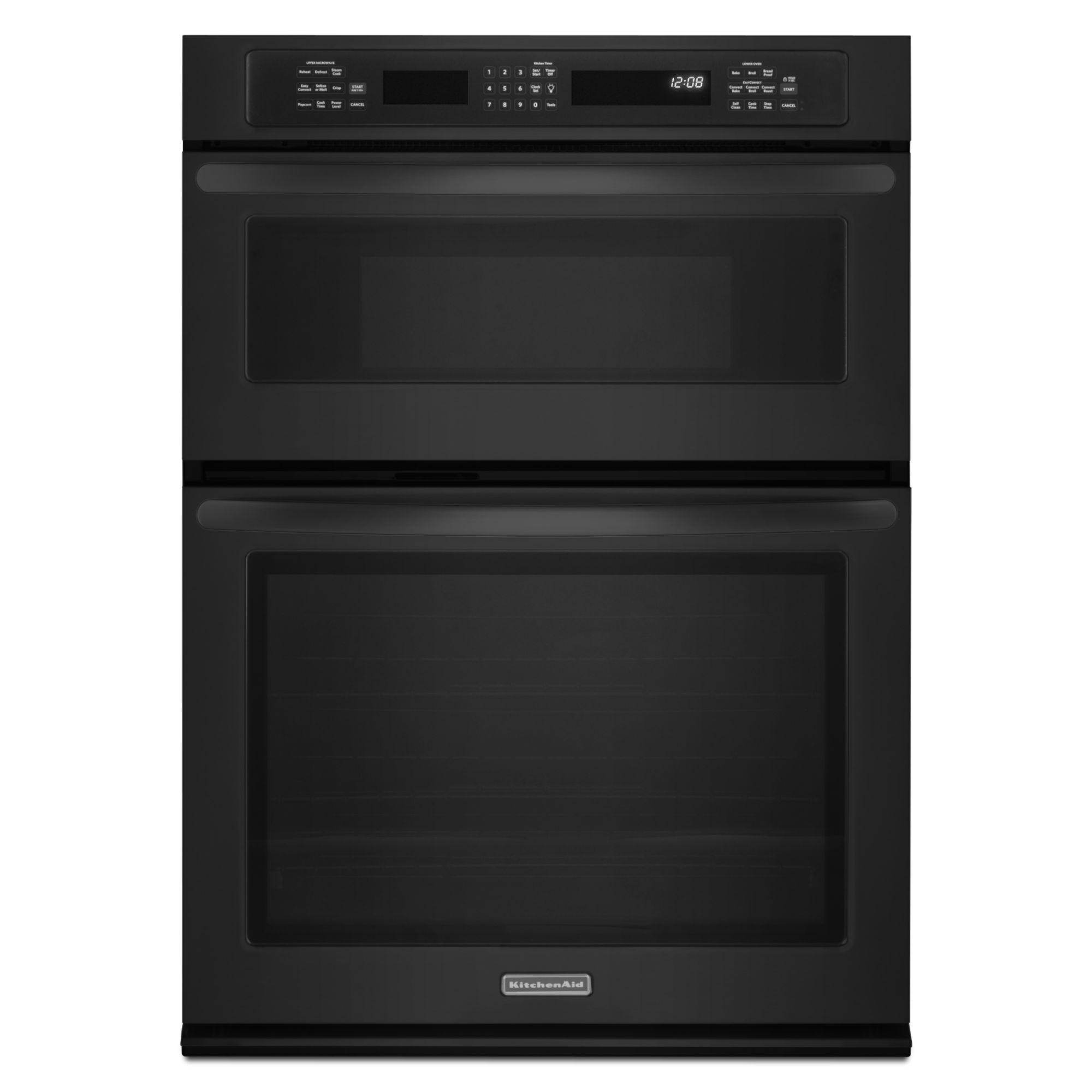 "Kitchen Aid Wall Oven  KitchenAid KEMS309BBL 30"" Built in bination Wall"