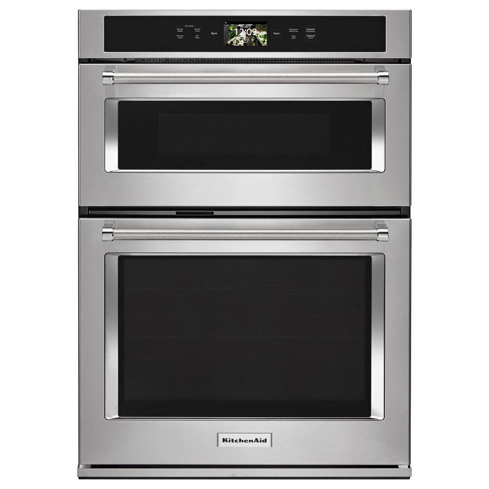 Kitchen Aid Wall Oven  KitchenAid 30 in Electric Convection Wall Oven with Built