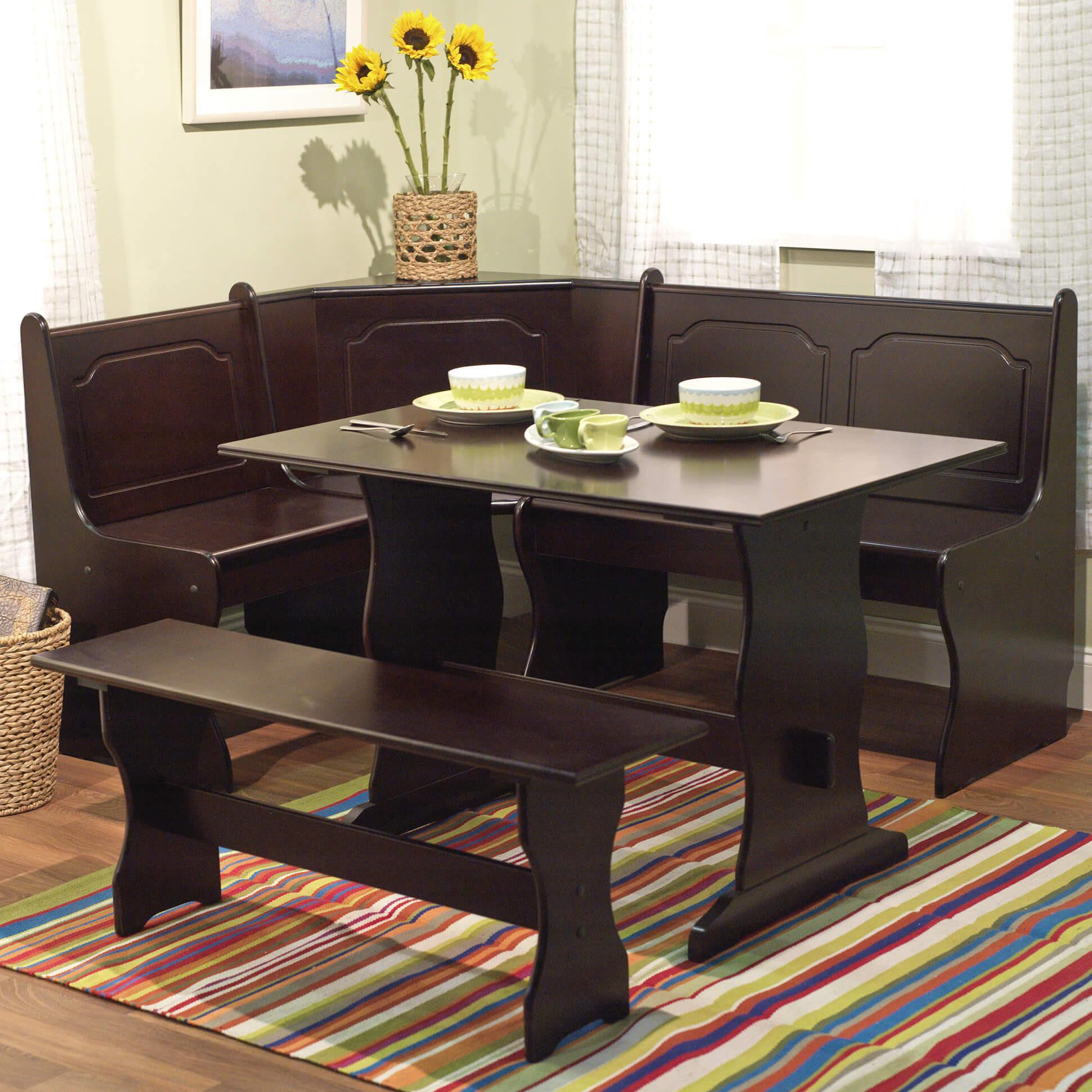 Kitchen Nook Bench With Storage  21 Space Saving Corner Breakfast Nook Furniture Sets BOOTHS