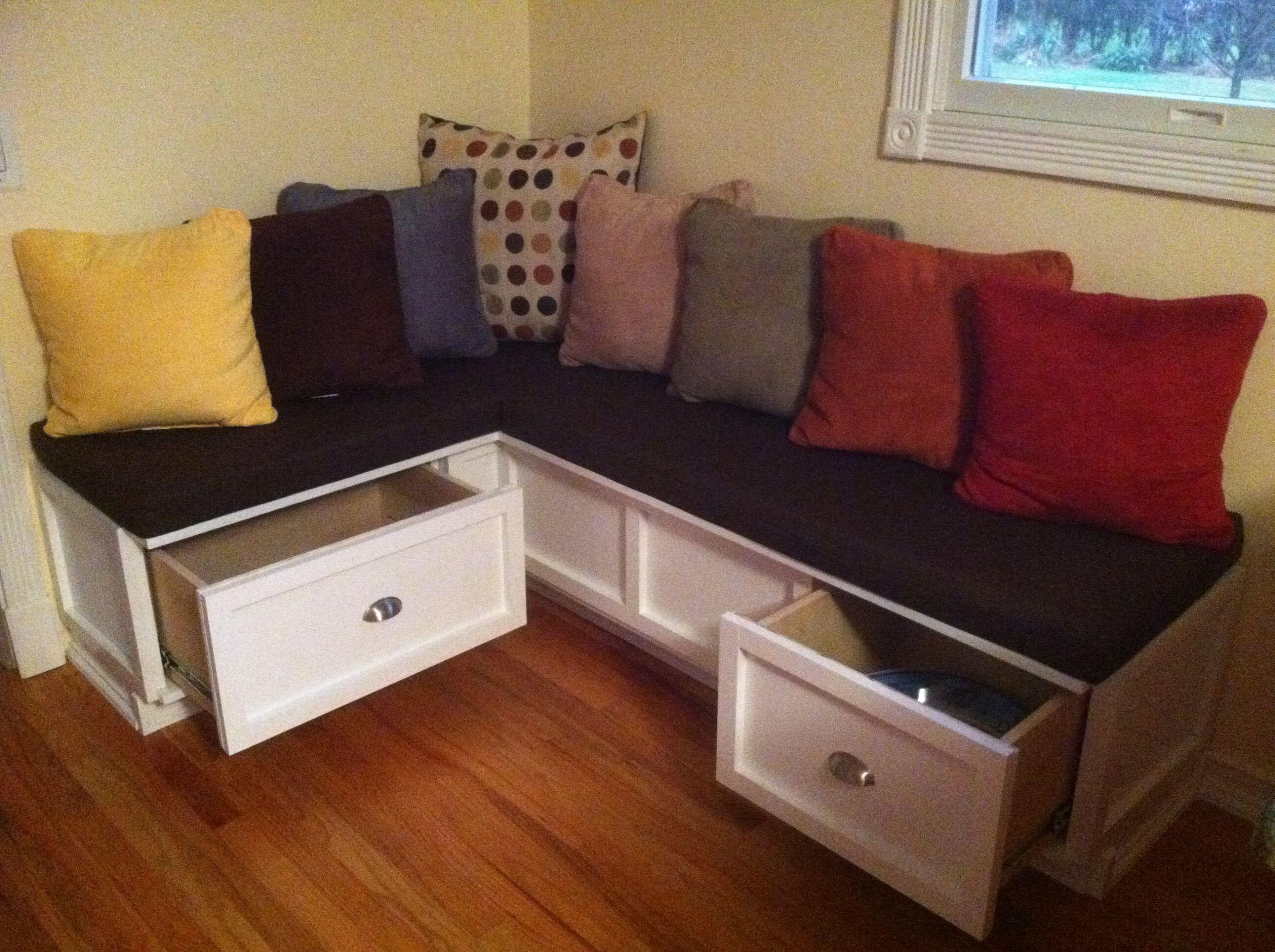 Kitchen Nook Bench With Storage  Ana White