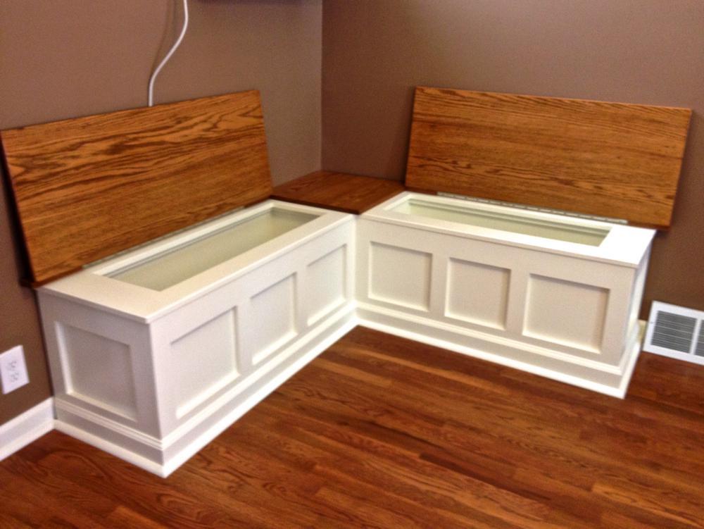 Kitchen Nook Bench With Storage  Oak Breakfast Nook CZ Woodworking