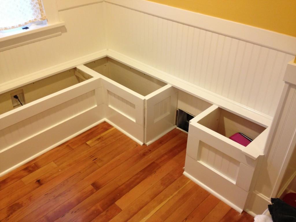 Kitchen Nook Bench With Storage  DIY Custom Kitchen Nook Storage Benches