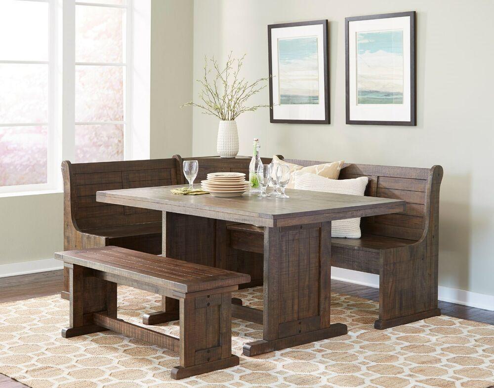 Kitchen Nook Bench With Storage  Sunny Design Homestead Breakfast Nook with Side Bench