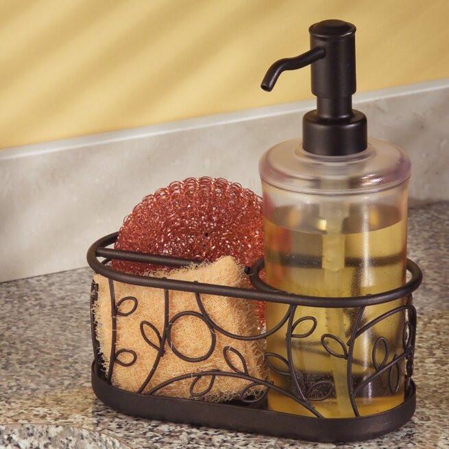 Kitchen Soap Caddy Organizer  InterDesign Twigz Kitchen Countertop Soap Dispenser Pump